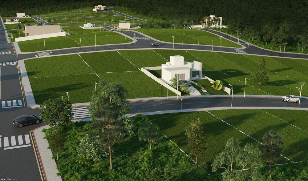 Urbanização planejada de alto padrão, esse é o conceito do Jardim Europa Loteamentos, em Indaial (Imagem 3D Ilustrativa) — Foto: Divulgação