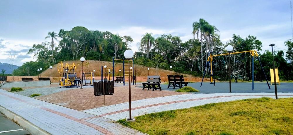 Jardim Europa Loteamentos é o único condomínio com área de lazer a academia ao ar livre na região — Foto: Divulgação